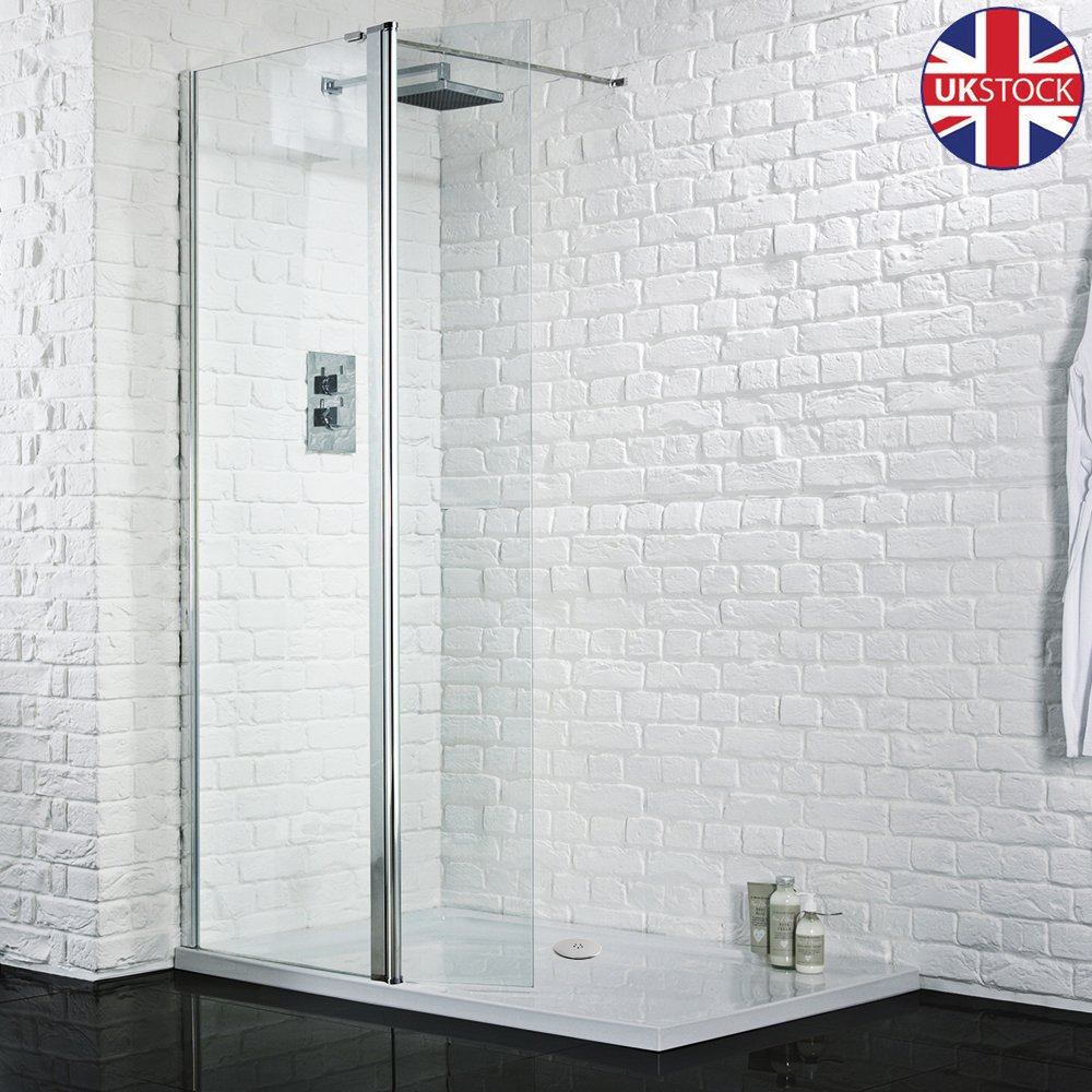 Walk In Shower With Flipper Panel.Details About Walk In Shower Enclosure Wet Room Screen 300mm Flipper Glass Panel Tray Waste