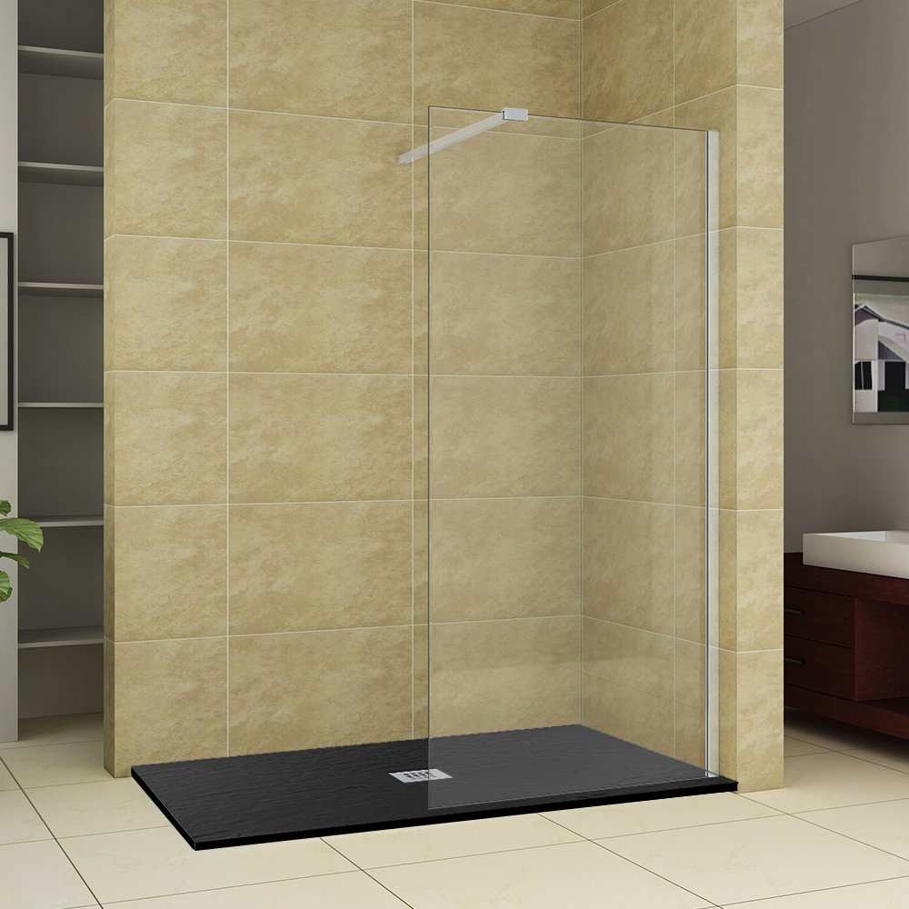 Walk In Wet Room Shower Screen Panel Glass Shower Cubicle With ...